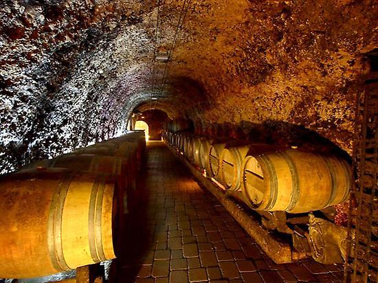 Underground winery in Laguardia