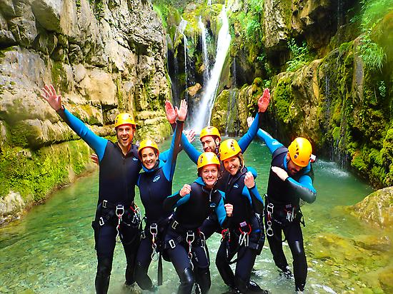 Funny canyon with friends in Ordesa