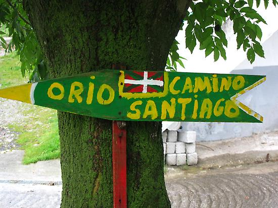 Signs on the Northern Camino de Santiago