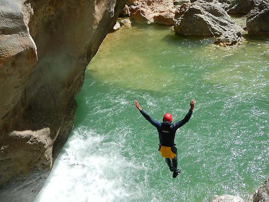 nice jump in the canyon