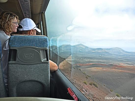 Timanfaya from the bus