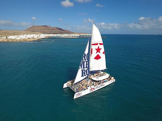 Catamaran in La Graciosa