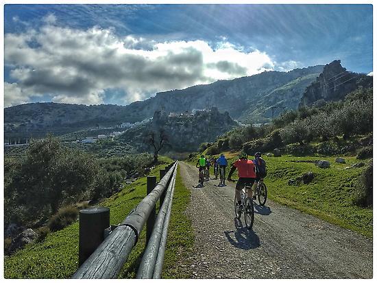 Cycling near Zuheros