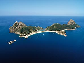 General view of Cies Island