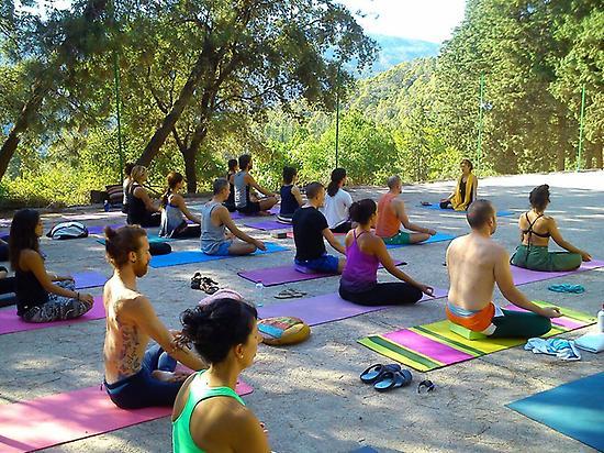 Open-air yoga