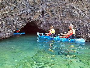 Kayaking in caves