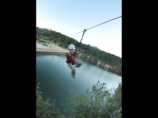 Zip line over wather