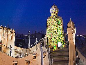 'La Pedrera' at night