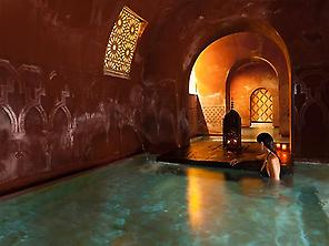 Hot room at Hammam Madrid