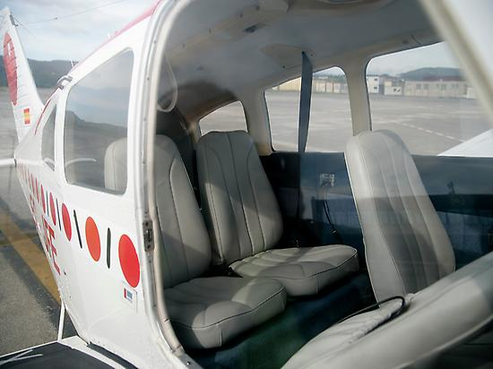 The interior of the plane