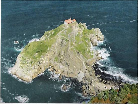 Aerial view of San Juan de Gaztelugatxe