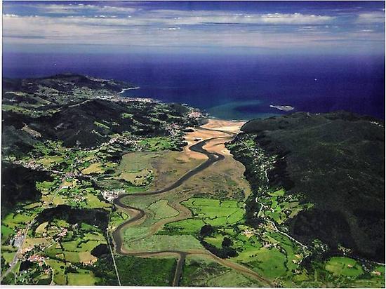 Aerial view of the Biosphere of Urdaibai