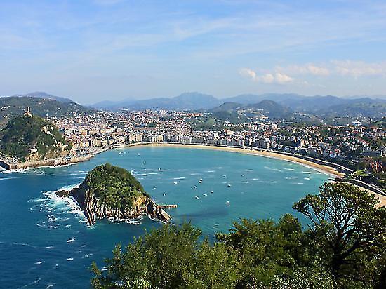 Panoramic views of San Sebastian
