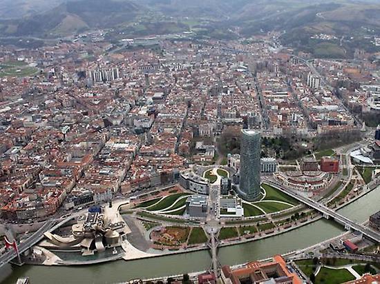 Aerial view of Bilbao City