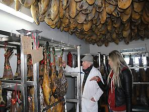 Iberian hams dryer
