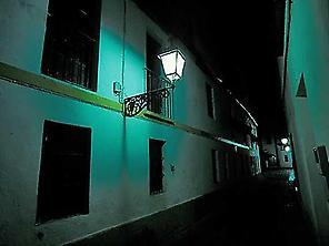 Santa Cruz de noche.