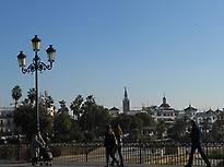 Sevilla and Triana linked by a bridge