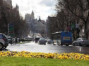 Vista desde la Puerta de Alcalá