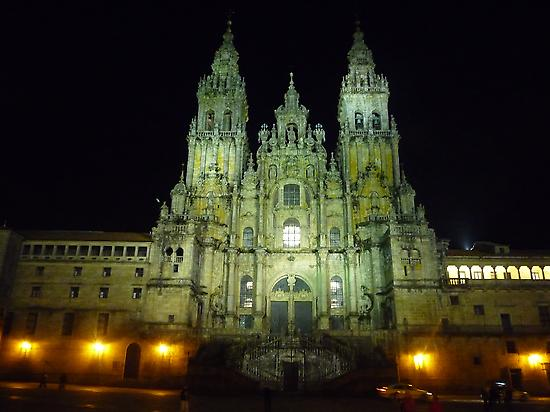 The Cathedral of Santiago by night