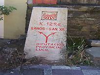 Camino milestone in Triacastela