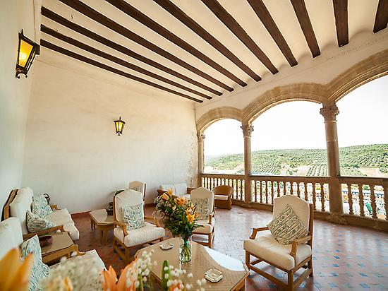 The terrace of Castle of Canena