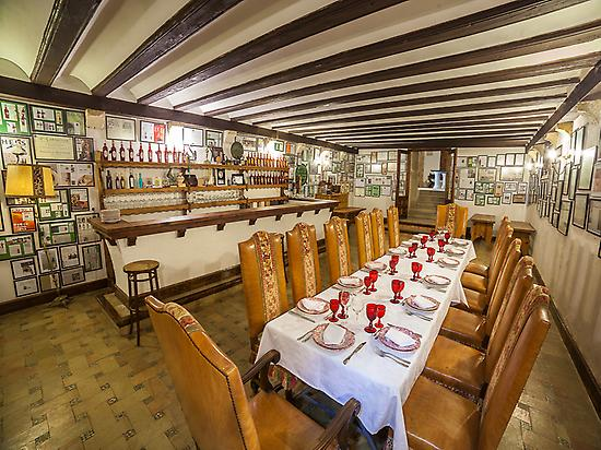 The dining room at Castle of Canena
