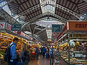 Central Market in Valencia.