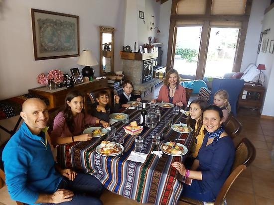 Sharing Spanish lunch