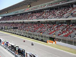 MotoGP Catalonia, main straight