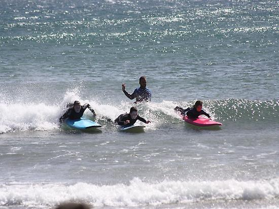 Surfing in family!
