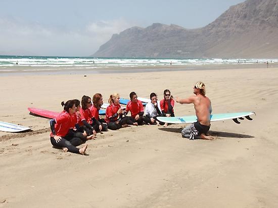 Friends great experience in Famara beach