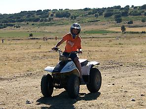 Enjoy driving a quad