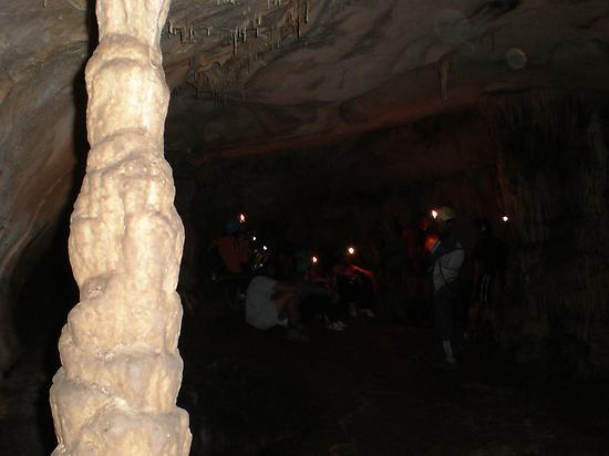 Enjoy inside a cave
