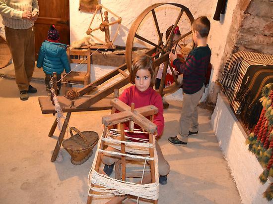 En el museo de la lana. Los pelaires