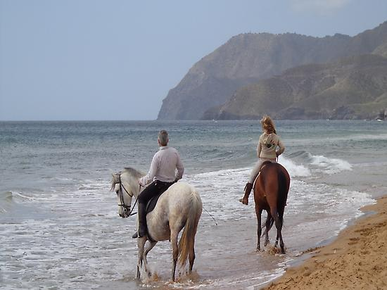 Horse riding on Calblanque