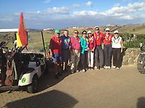 Group of people playing golf in Lanzarot
