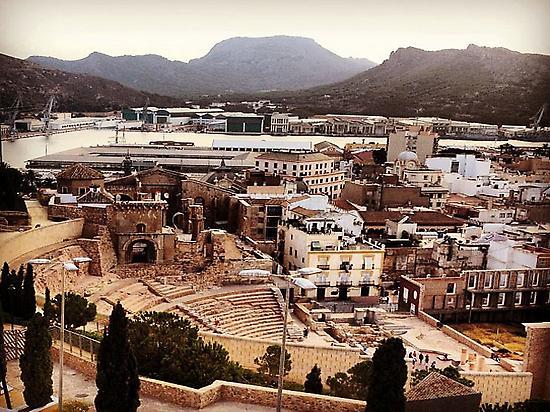 Vistas Teatro Romano desde Parque Torres