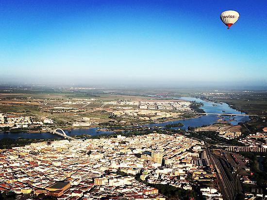 Vuelo en globo en Mérida, Extremadura