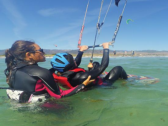 The instructor with you on the water
