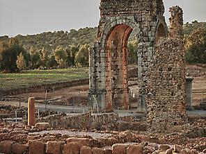 Old Roman town, Caparra.