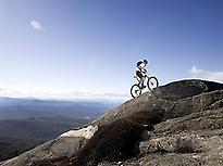Ruta de bicicleta de montaña exigente.