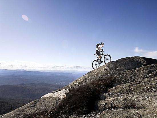 A demanding mountain bike route.