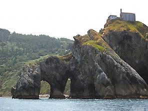 San Juan de Gaztelugatxe from the sea