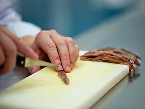 Preparing anchovies