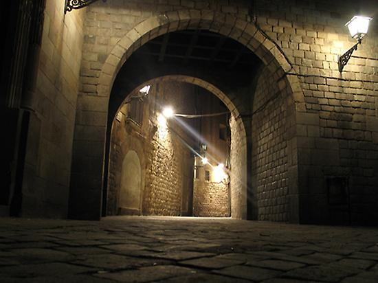 The Gothic Quarter by Night