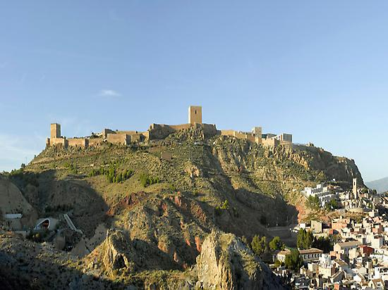 Lorca fortress, town of departure