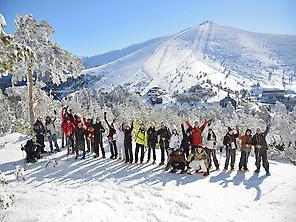 Schneeschuhwandern in der Sierra de Gred