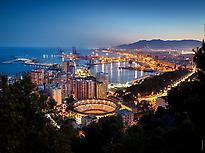 Málaga at dusk