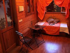 Wood Bungalow's interior