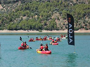 Kayaking at Iznájar reservoir
